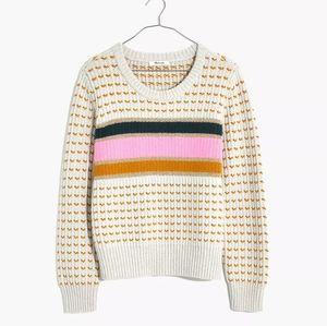 Madewell multi chunky knit stripe sweater medium